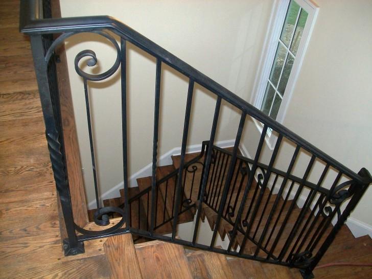 Interior Design , 8 Nice Wrought Iron Stair Railing : Interior Iron Stair Railing