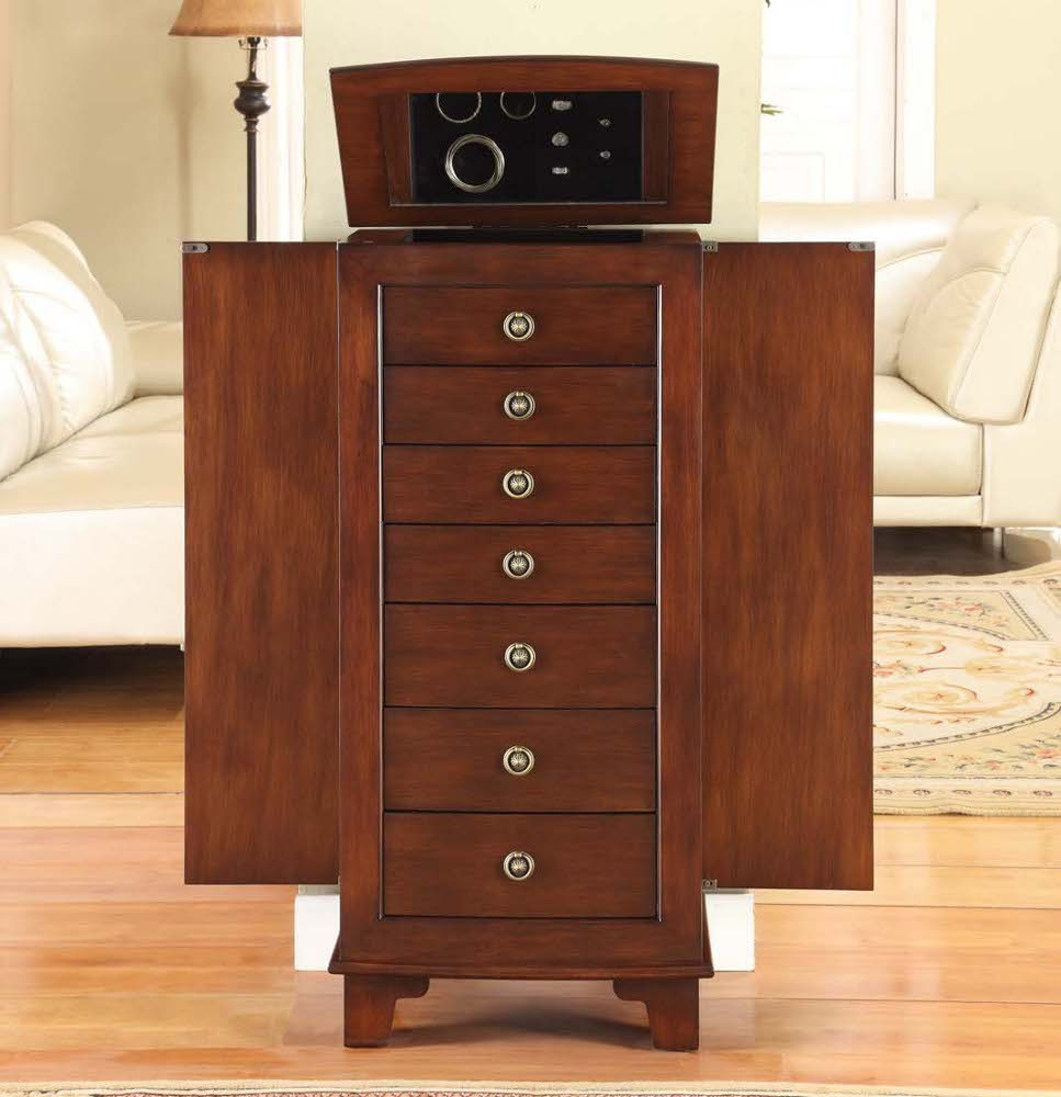 967x1000px 7 Excellent Locking Jewelry Armoire Picture in Furniture