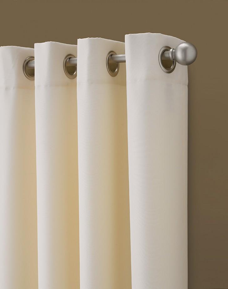 Interior Design , 7 Stunning Grommet Curtains : Kendall Color Block Grommet Curtain Panel