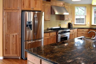 1200x993px 7 Awesome Rustic Hickory Cabinets Picture in Kitchen