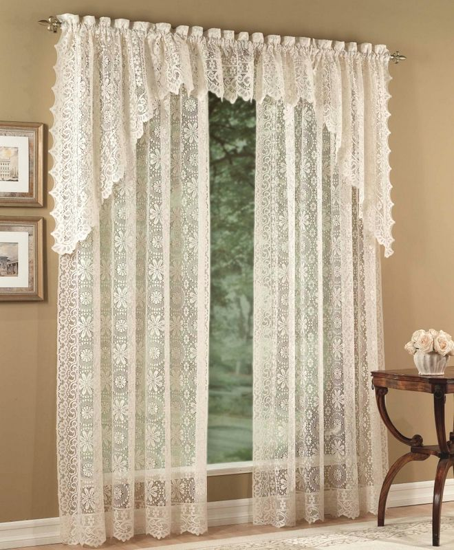 Others , 7 Top Lace Curtain Panels : Lace Curtain Panel