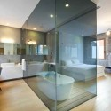 Large Cube Glass Bathroom Divider , 8 Popular Studio Apartment Dividers In Apartment Category