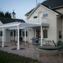 Large custom pergola attached to the house , 7 Cool Pergola Attached To House In Homes Category