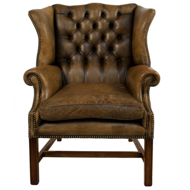 Furniture , 7 Unique Wingback Chair : Leather Wingback Chair