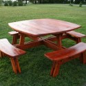 Log Furniture , 8 Good Rustic Picnic Tables In Furniture Category