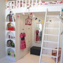 Love this loft bed , 8 Excellent Loft Bed With Closet Underneath In Bedroom Category