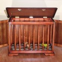 Luxury Wooden Dog Crate , 6 Cool Custom Dog Crates In Furniture Category
