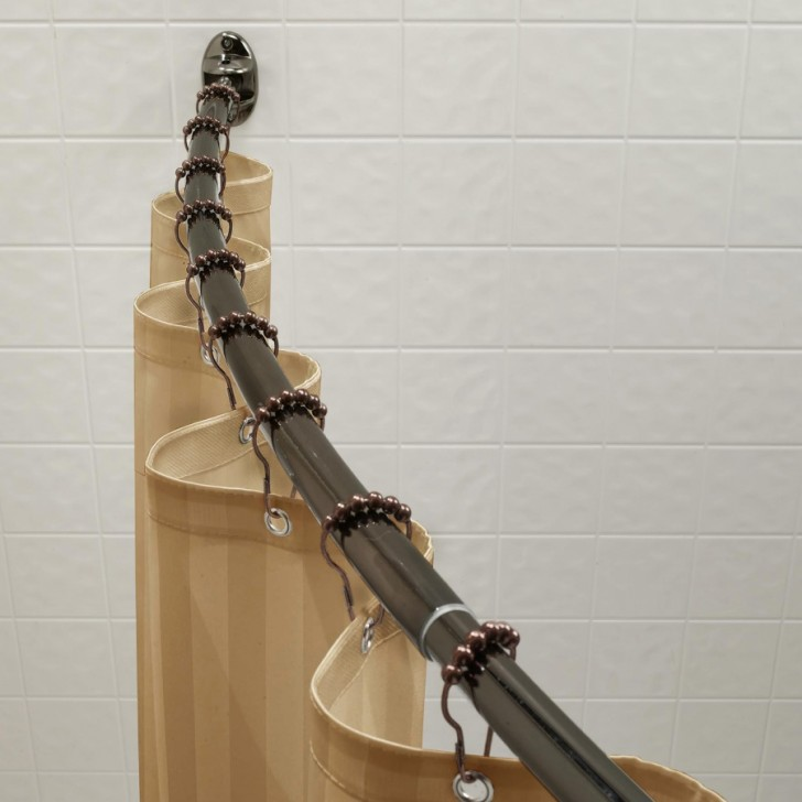 Others , 7 Unique Curved Curtain Rod : Metro Curved Shower Curtain Rods