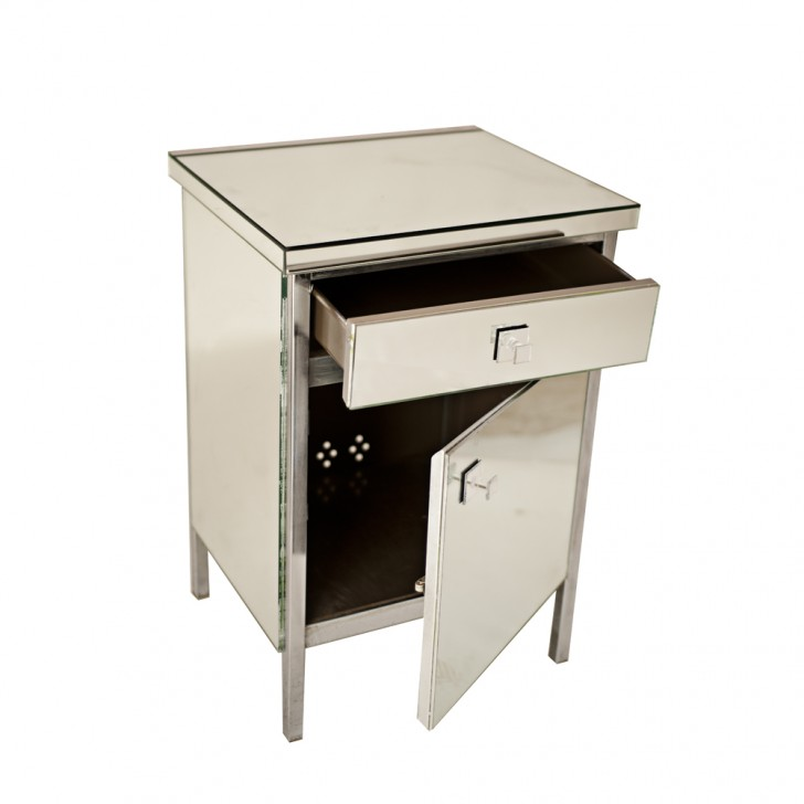 Furniture , 8 Best Mirrored nightstand : Mirrored Nightstands Side Tables