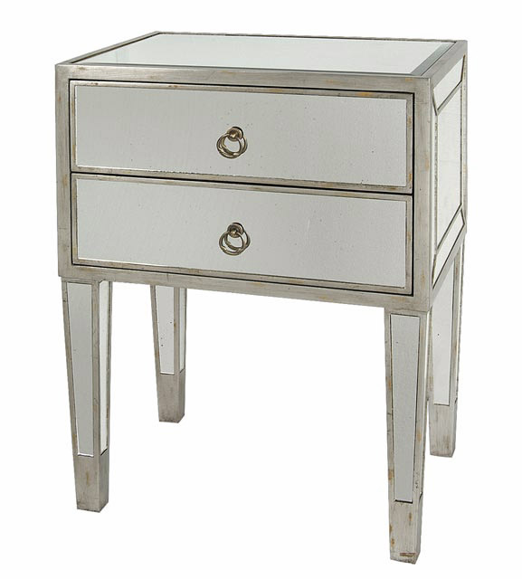 Furniture , 8 Stunning Mirrored Nightstands : Mirrored Side Table
