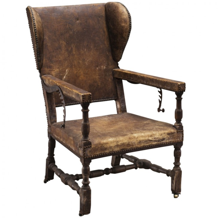 Furniture , 7 Ideal Leather Wingback Recliner : Monumental Leather Wingback Recliner