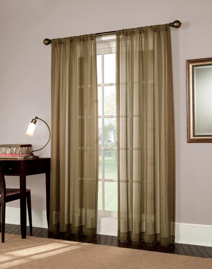 Others , 4 Gorgeous Curtain Sheers : Mystic Stripe Semi Sheer Curtain Panel