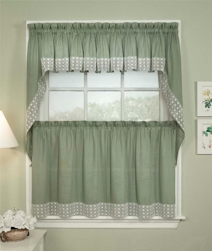 Others , 8 Fabulous Kitchen Curtain Valances : Ombre Scarf Valances