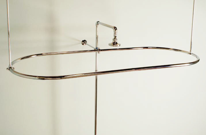Oval Shower Curtain Enclosure : 4 Good Oval Shower Curtain Rod ...