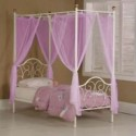 PINK Voile Bed Canopy Drapes  , 7 Ideal Canopy Bed Curtains In Bedroom Category
