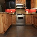 Painted Black Cabinets , 7 Awesome Rustic Hickory Cabinets In Kitchen Category