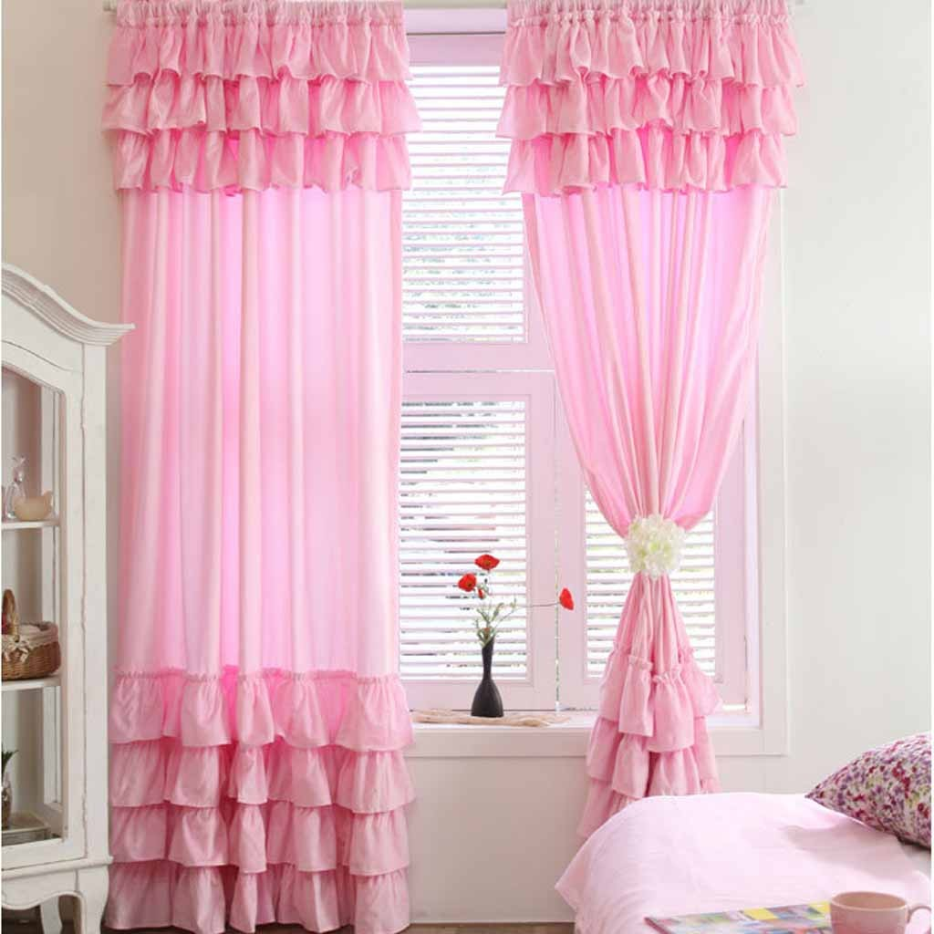 Pink Ruffle Curtains 7 Cool Pink Ruffle Shower Curtain