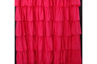 1000x1000px 7 Cool Pink Ruffle Shower Curtain Picture in Others