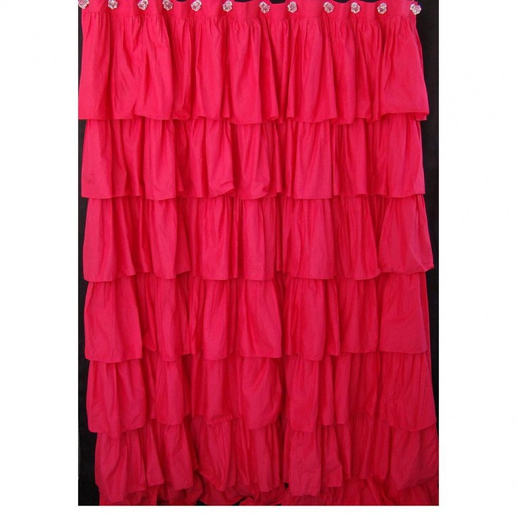 Others , 7 Cool Pink Ruffle Shower Curtain : Pink Ruffled Shower Curtain