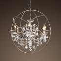 Polished Nickel Medium , 7 Outstanding Orb Chandelier In Lightning Category