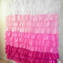 Pretty Ruffle Shower Curtain , 7 Cool Pink Ruffle Shower Curtain In Others Category
