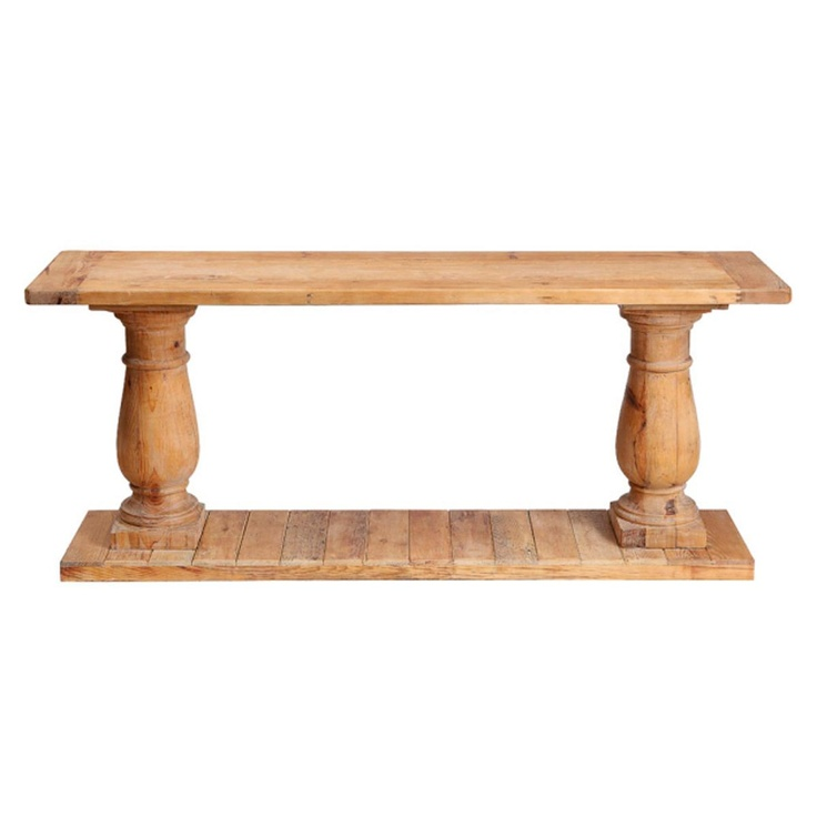 Reclaimed Wood Balaster Console Table 7 Ideal Reclaimed