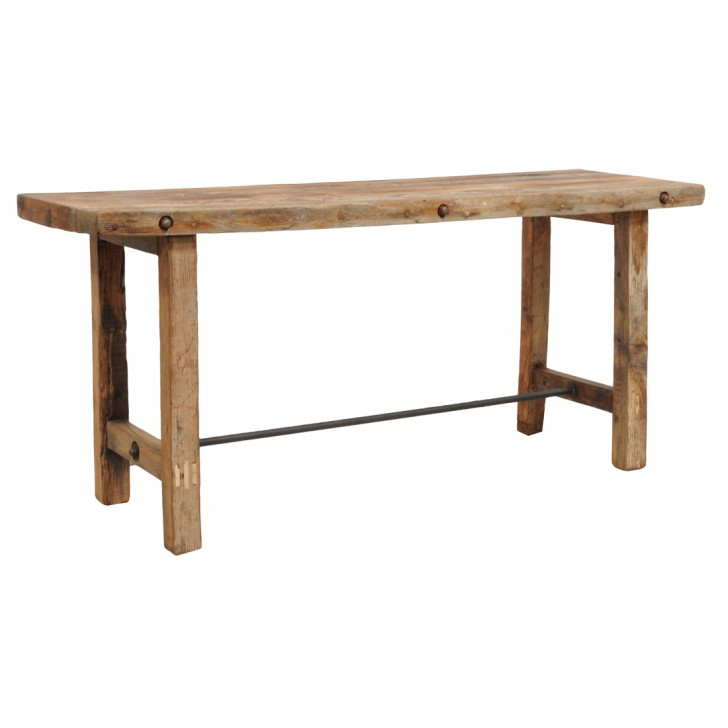 Furniture , 7 Ideal Reclaimed Wood Console Table : Reclaimed Wood Console Table