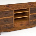 Reclaimed Wood Entertainment Center Seven Drawer , 8 Awesome Reclaimed Wood Entertainment Center In Furniture Category