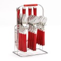 Red Flatware Set  , 8 Best Silverware Caddy In Kitchen Category
