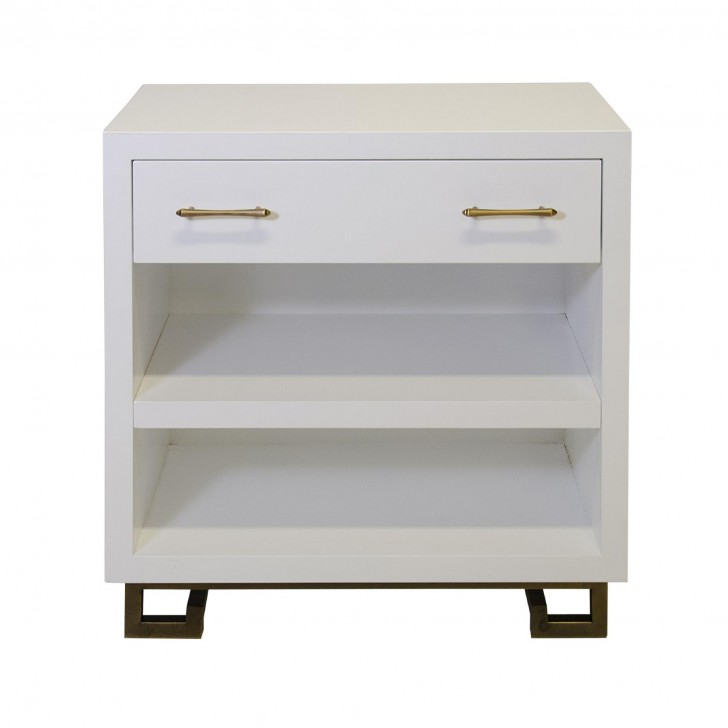 Furniture , 8 Top White Lacquer Nightstand : Roth White Lacquer Nightstand