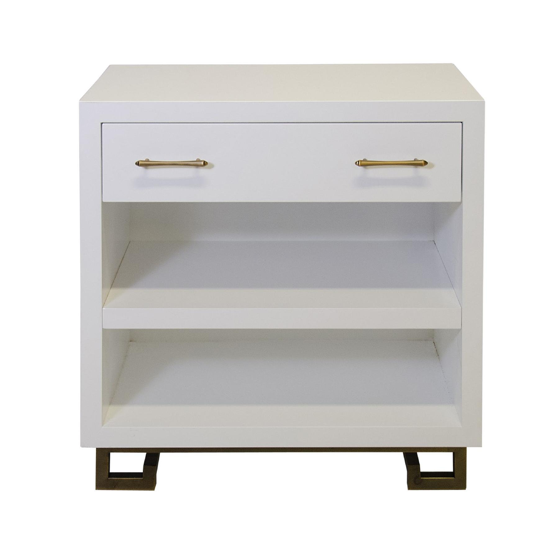 1800x1800px 8 Top White Lacquer Nightstand Picture in Furniture