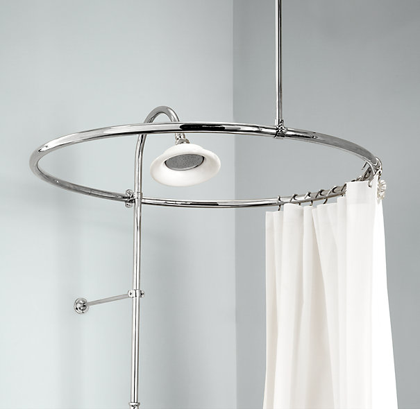 Others , 6 Top Circular Shower Curtain Rod : Round Shower Curtain Rod