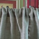 Ruffled Burlap Curtain Panel , 8 Hottest Burlap Curtain Panels In Others Category