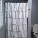 Ruffled Stall Shower Curtain , 8 Superb Shower Stall Curtains In Others Category