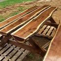 Rustic Log Picnic Table , 8 Good Rustic Picnic Tables In Furniture Category