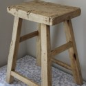 Rustic Reclaimed Wood Counter Stool , 7 Charming Reclaimed Wood Bar Stools In Furniture Category