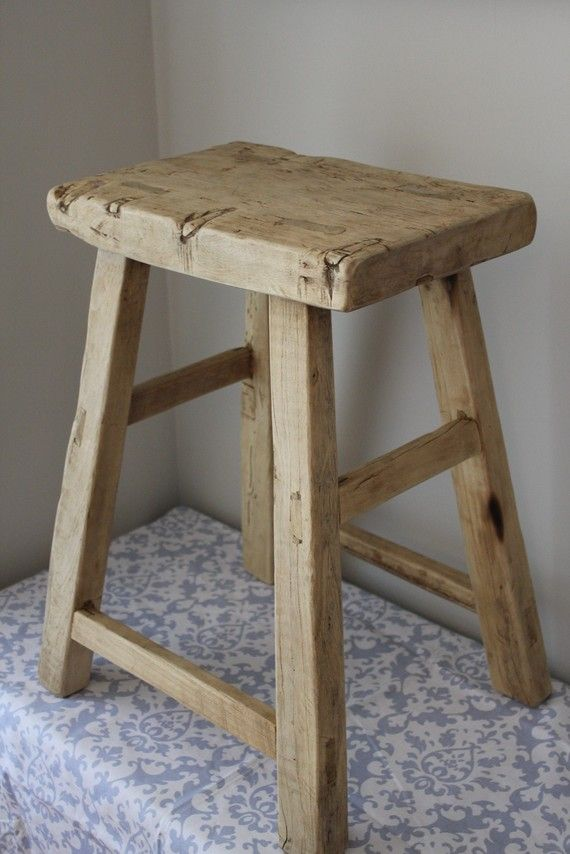 Brand new Rustic Reclaimed Wood Counter Stool : 7 Charming Reclaimed Wood  HO48