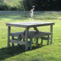 Rustic Whitewash Picnic Table , 8 Good Rustic Picnic Tables In Furniture Category
