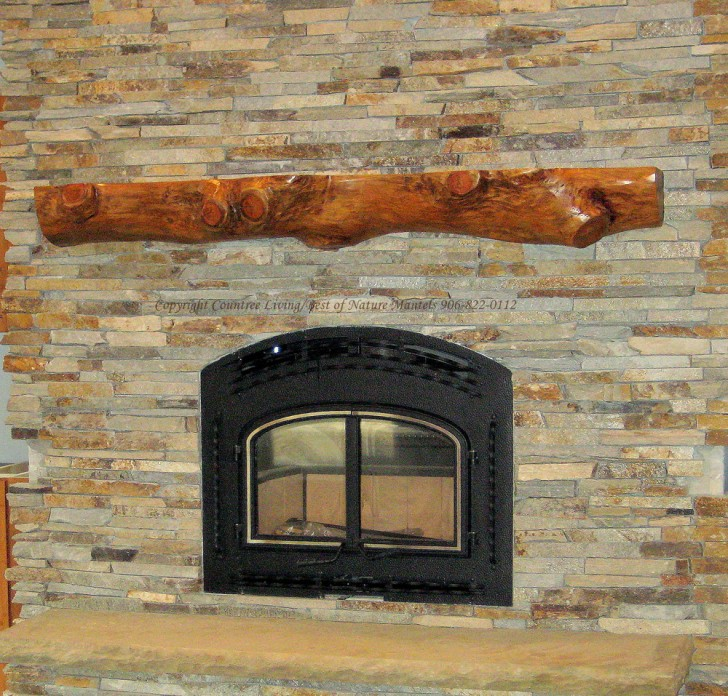 Others , 7 Gorgeous Rustic Mantels : Rustic Wood Fireplace Mantel