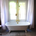 Shower Curtain , 8 Excellent Shower Curtains For Clawfoot Tubs In Others Category