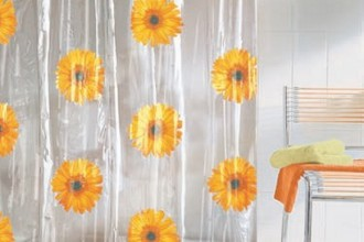 580x617px 7 Popular Sunflower Shower Curtain Picture in Others