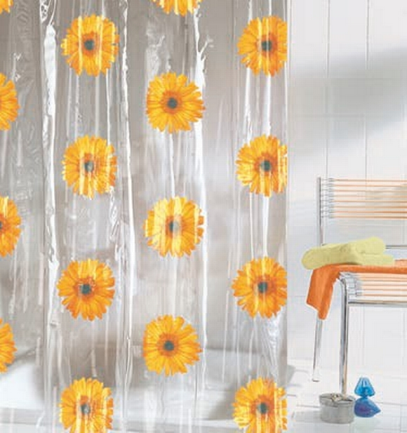 Others , 7 Popular Sunflower Shower Curtain : Shower Curtains And Fittings