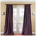 Solid Faux Silk Taffeta Dahlia , 8 Fabulous 108 Curtain Panels In Others Category