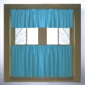 Solid Turquoise Colored Kitchen Curtain , 8 Fabulous Kitchen Curtain Valances In Others Category
