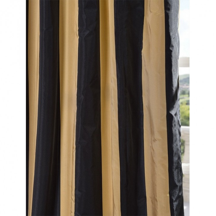 Others , 8 Nice Striped Curtain Panels : Space Living Striped Faux Silk