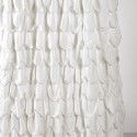 Stitched Scallop Ruffle Shower Curtain , 7 Best Ruffled Shower Curtain In Others Category