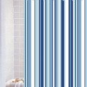 Stripe Blue Polyester Shower Curtain , 8 Stunning Striped Shower Curtain In Others Category