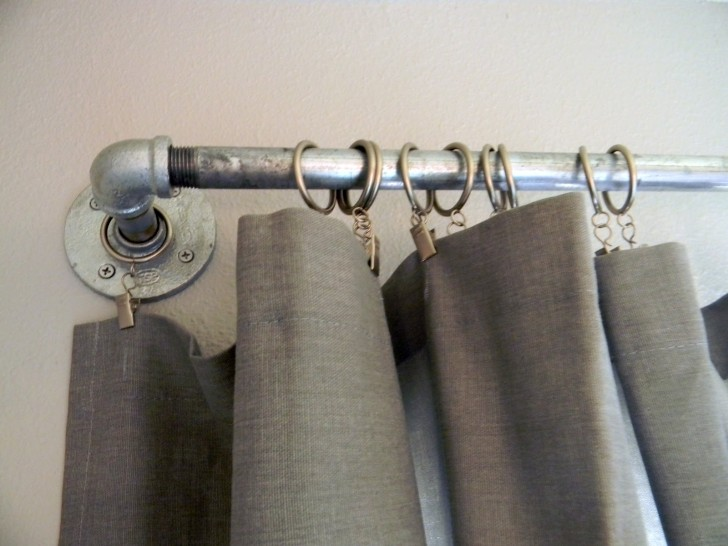Others , 7 Gorgeous Rustic Curtain Rods :  Striped Curtains