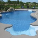 Swimming pool waterfalls inground , 7 Top Small Inground Pool In Others Category