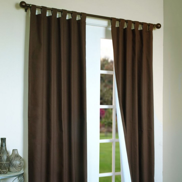 Others , 7 Superb Tab Top Curtain Panels : Tab Top Panel Panels